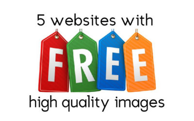 5 Websites with FREE High Quality Images