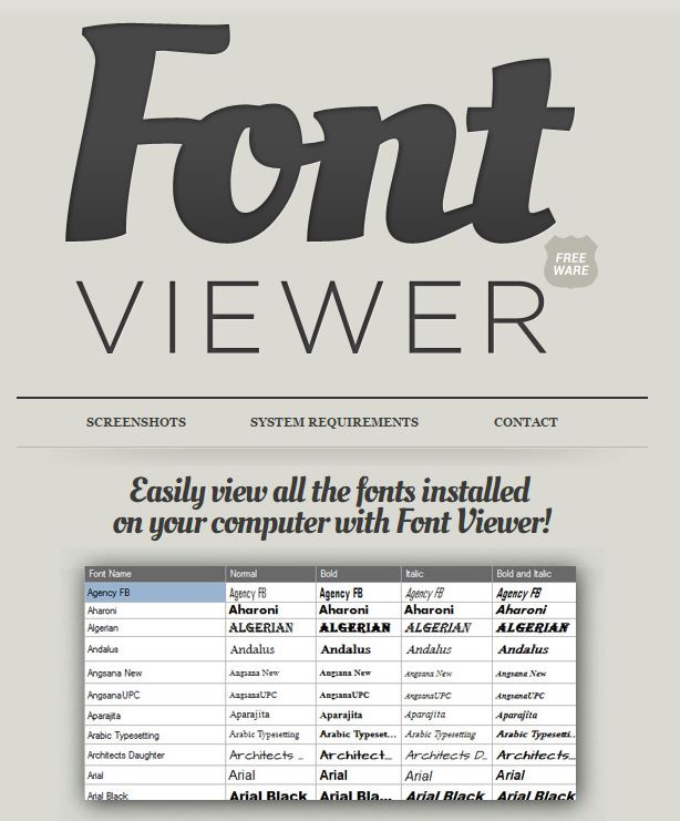 Fonts-FontViewer
